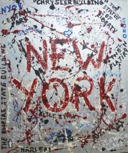 New York - 120x100 - technique mixte sur toile