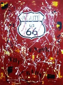 Road 66 - 97x130 - technique mixte sur toile